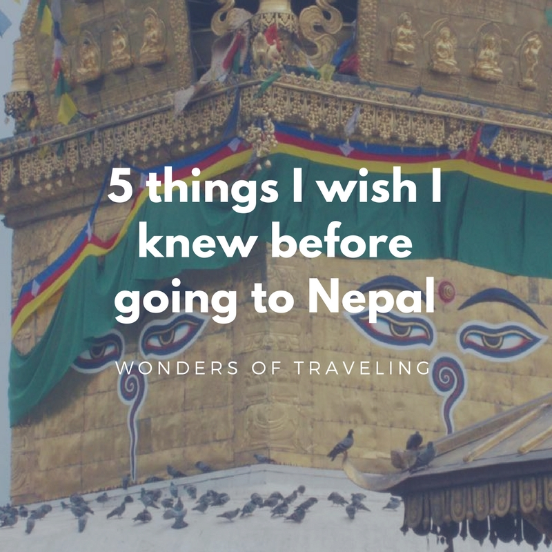 5 things I wish I knew before going to Nepal