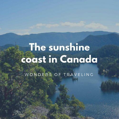 Sunshine coast in Canada