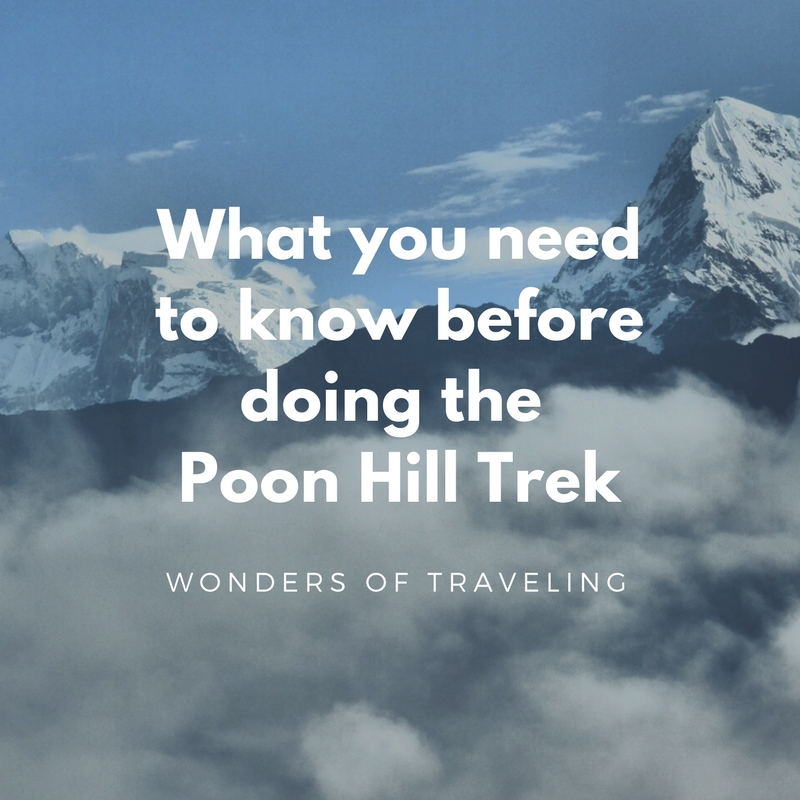 What you need to know before doing the Poon Hill Trek
