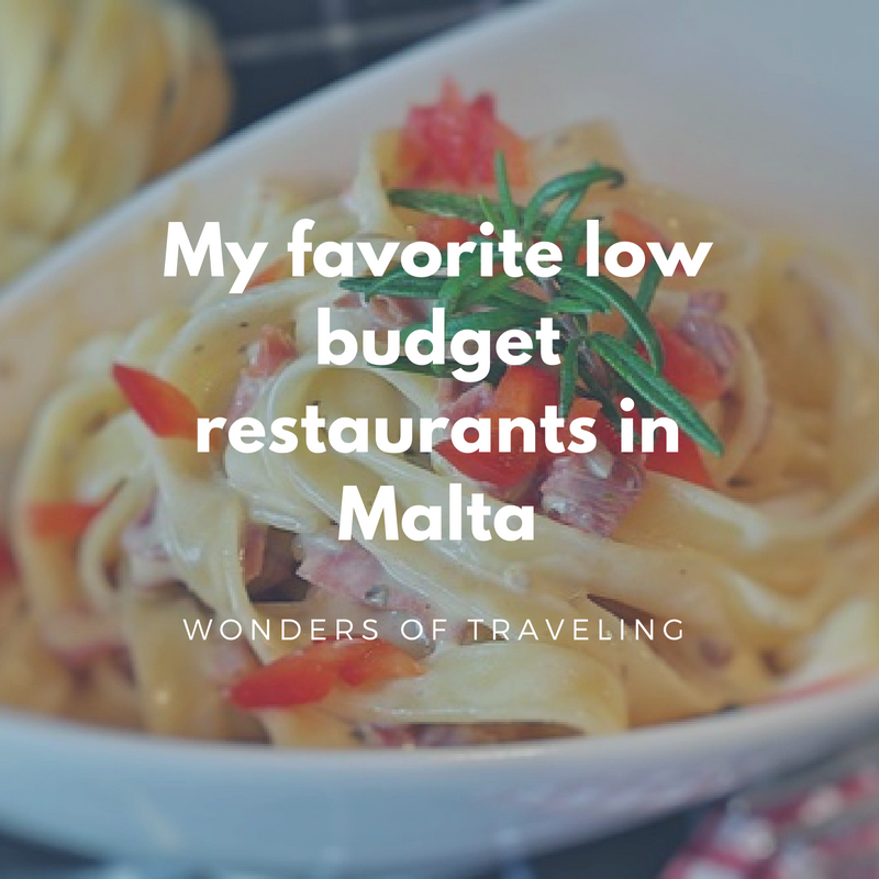 Low budget restaurants in Malta
